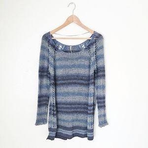 Free People Open Knit Tunic Sweater